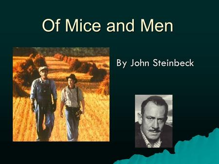 Of Mice and Men Summary and Study Guide