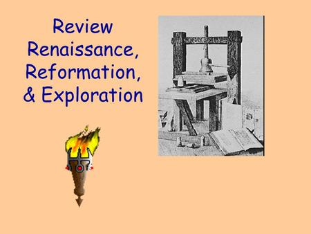 Review Renaissance, Reformation, & Exploration Affected the spread of ideas during the Renaissance just like the internet affects the spread of ideas.