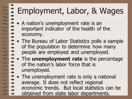 Employment, Labor, & Wages