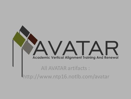 All AVATAR artifacts :