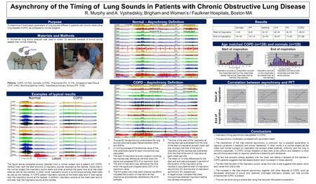 NormalCOPD InspirationExpirationInspirationExpiration 1 second Asynchrony of the Timing of Lung Sounds in Patients with Chronic Obstructive Lung Disease.