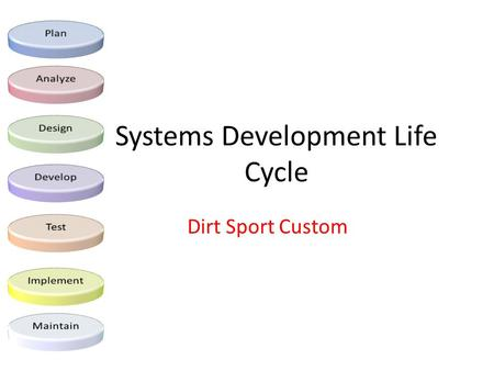 Systems Development Life Cycle Dirt Sport Custom.