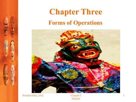 Prentice Hall, 2002Chapter 3 Daniels 1 Chapter Three Forms of Operations.