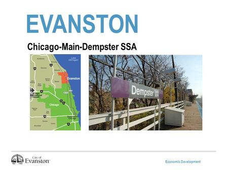 Economic Development EVANSTON Chicago-Main-Dempster SSA.