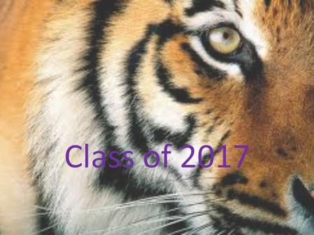 Class of 2017. Why Are We Meeting Today? Make sure you know who your counselor is and how he or she can help. Share resources. Answer questions.
