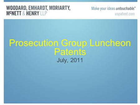 Prosecution Group Luncheon Patents July, 2011. Inequitable Conduct Post-Therasense American Calcar, Inc. v. American Honda Motor Co. (FC 2011) Inventors.