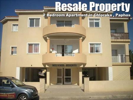 Resale Property 2 Bedroom Apartment in Chloraka, Paphos.