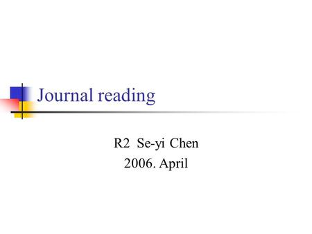 Journal reading R2 Se-yi Chen 2006. April. Case report 9 y/o, Female Presenting with severe neck pain, kyphosis for 1 month DTR: +++/ +++, no muscle weakness,