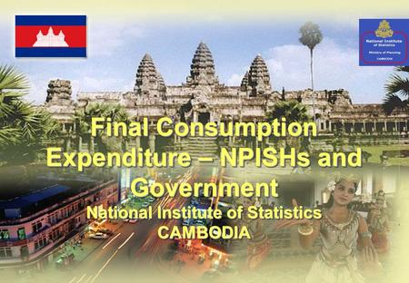 Final Consumption Expenditure – NPISHs and Government National Institute of Statistics CAMBODIA Final Consumption Expenditure – NPISHs and Government National.