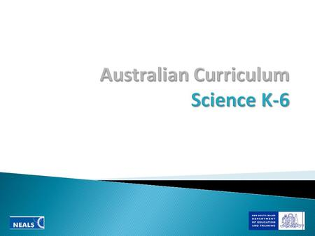 Australian Curriculum Science K-6