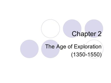 The Age of Exploration ( )