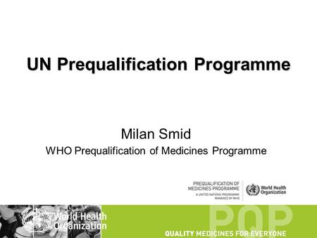 UN Prequalification Programme