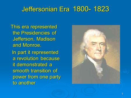 Jeffersonian Era Quiz