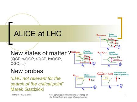 New states of matter ? (QGP, wQGP, sQGP, bsQGP, CGC,…) New probes