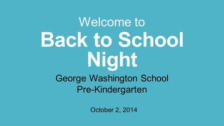 George Washington School