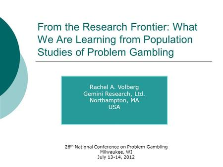 Volberg gambling gambling irs joke