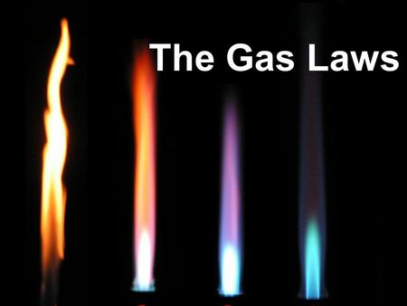 The Gas Laws. Units- are used to identify each variable Volume- mL, L, cm 3 Temperature- if given in °C convert to Kelvin- K Pressure- atm, torr, mmHg,