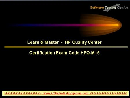 Learn & Master - HP Quality Center Certification Exam Code HPO-M15