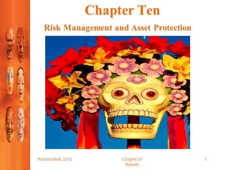 Prentice Hall, 2002Chapter 10 Daniels 1 Chapter Ten Risk Management and Asset Protection.
