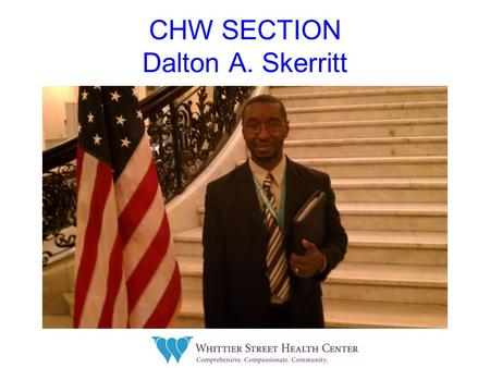 CHW SECTION Dalton A. Skerritt. SUSTAINABILITY COMMUNITY HEALTH WORKER APHA MEETING 2011 WASHINGTON DC Abstract #245710.