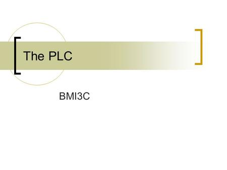 The PLC BMI3C. The PLC The Product Life Cycle describes the changes in consumer demand with regard to a product over a period of time Marketers use this.