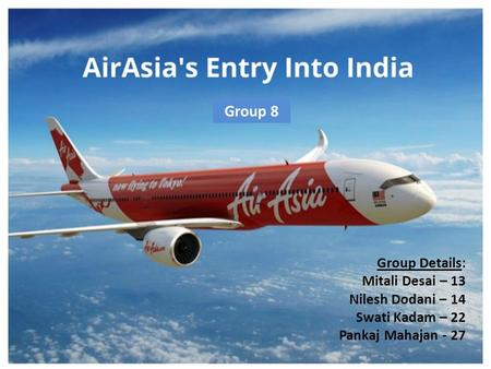 Air Asia: Entry in India