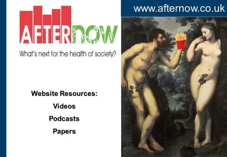 Www.afternow.co.uk Website Resources: VideosPodcastsPapers.
