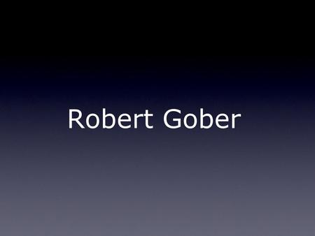 Robert Gober. Art as a Metaphor What is a Metaphor? a figure of speech in which a word or phrase literally denoting one kind of object or idea is used.