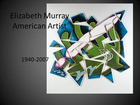 Elizabeth Murray American Artist 1940-2007. Elizabeth Murray in her studio.