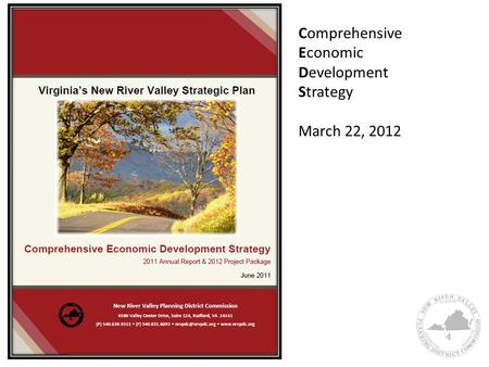 Comprehensive Economic Development Strategy March 22, 2012.