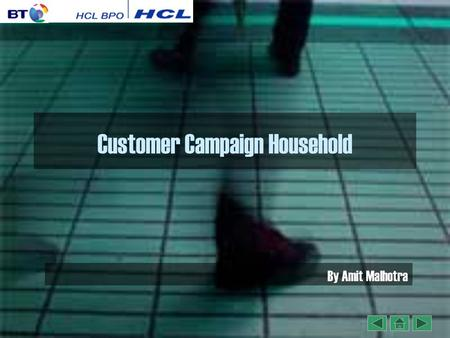 Customer Campaign Household By Amit Malhotra. Objective By the end of this presentation we will be able to understand about Consumer Campaign Household.