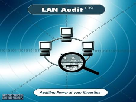 Many thanks for taking the time to look at LAN Audit PRO. In the following few slides I will describe some of the features of this innovative product.
