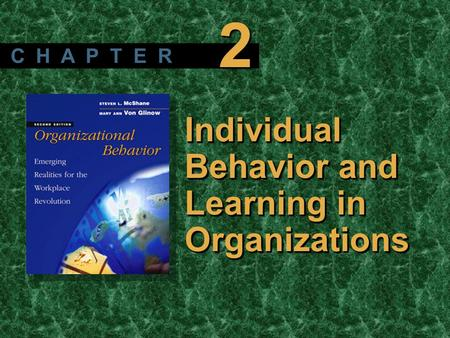 2 C H A P T E R Individual Behavior and Learning in Organizations.