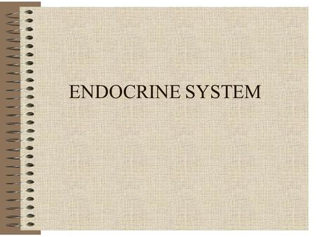 ENDOCRINE SYSTEM. Endocrine - General Major Control System of Homeostasis Negative Feedback Ductless Glands; Produce Hormones Diffuse into Blood Slow.