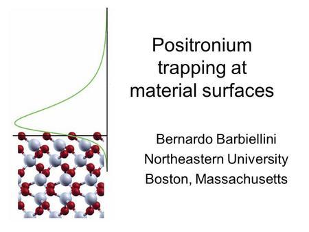 Positronium trapping at material surfaces