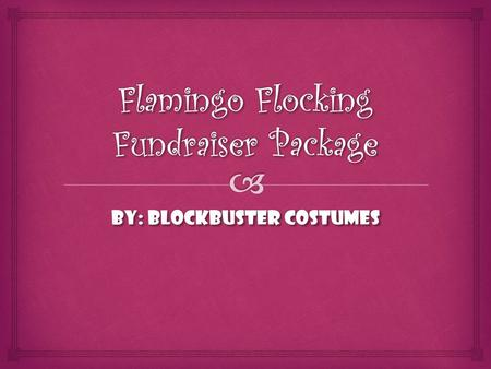 By: BlockBuster Costumes.  11 Steps To Set Up a Flamingo Fundraiser.