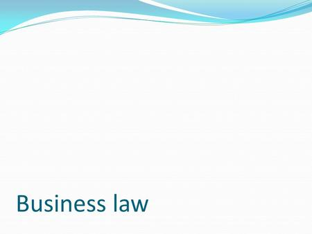 Business law. Possibility of Undue Influence under certain cases  There is no possibility of undue influence b/w husband and wife  But it can arise.