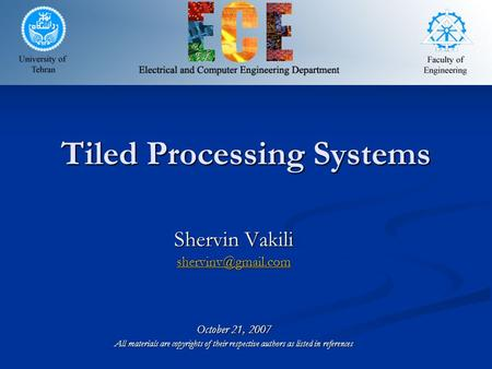Tiled Processing Systems
