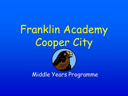 Middle Years Programme Franklin Academy Cooper City.