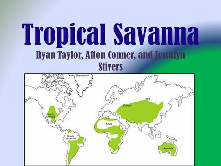 Tropical Savanna Ryan Taylor, Afton Conner, and Jessalyn Stivers.