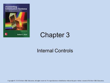 Chapter 3 Internal Controls.