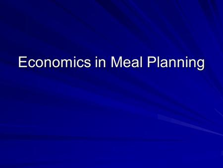 Economics in Meal Planning. Factors Influencing Food Cost Americans spend approximately 13 percent of their disposable income on food which includes food.