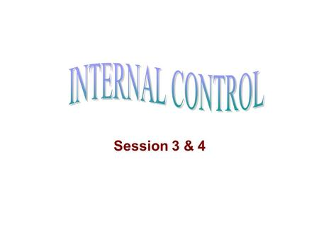 Session 3 & 4. Institute of Internal Auditors Inc (IIA) was created for internal auditors in 1941 Generally accepted criteria of a profession are: –Adopting.