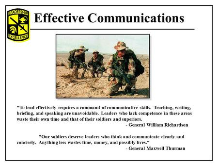 Military communication essay
