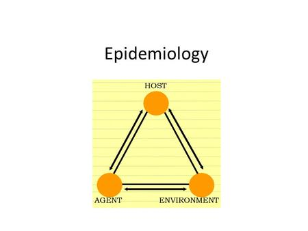 Epidemiology. Epidemiology is: The study of the distribution and determinants of health-related states or events in specified populations and the application.