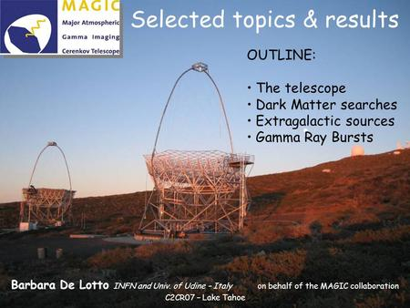 Selected topics & results