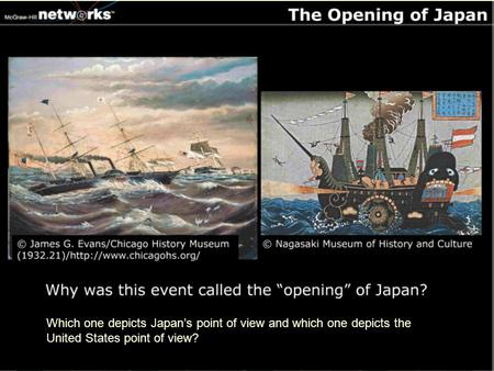Which one depicts Japan's point of view and which one depicts the United States point of view?