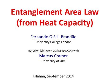 Entanglement Area Law (from Heat Capacity)