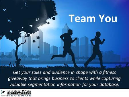 Get your sales and audience in shape with a fitness giveaway that brings business to clients while capturing valuable segmentation information for your.