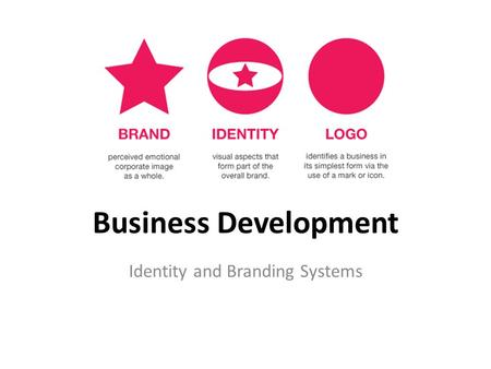 Business Development Identity and Branding Systems.
